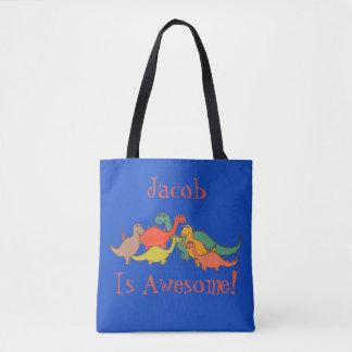 Tote Bag Lézard coloré de T-Rex de décor de dinosaure de