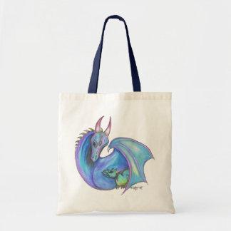 Tote Bag Lézard de père d'enfant de mère de dragon et de