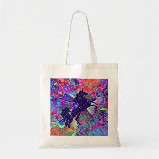Tote Bag LICORNE DE L'UNIVERS multicolore