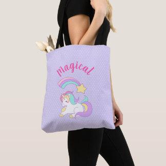 Tote Bag Licorne magique avec l'étoile filante