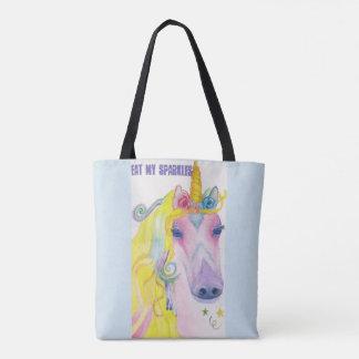 Tote Bag Licorne : Mangez mes étincelles