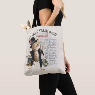 Tote Bag Liste d'achats de couture drôle de cachette de