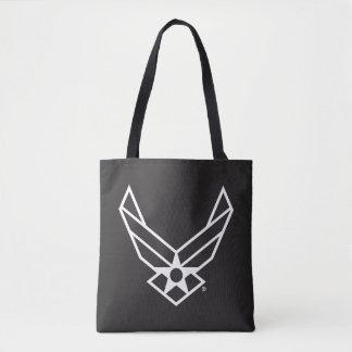 Tote Bag Logo d'armée de l'air des États-Unis - Noir