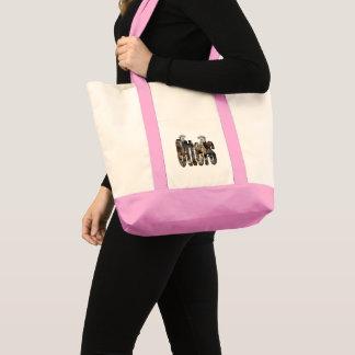 Tote Bag Logo de loutres et d'image de loutres,