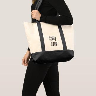 Tote Bag Logo d'image d'amour de Staffy,