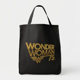 Tote Bag Logo d'or d'anniversaire de femme de merveille