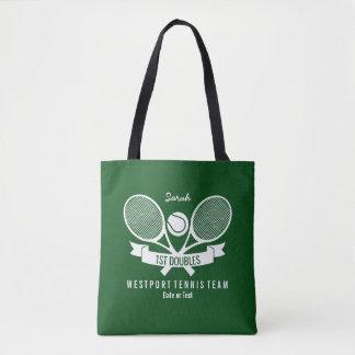 Tote Bag Logo vert fait sur commande personnalisé par boule