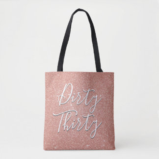 Tote Bag L'or rose sale de trente anniversaires rougissent