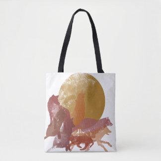 Tote Bag Loups Fourre-tout