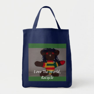 Tote Bag L'ours de Rasta, un amour 2, aiment le Worl…