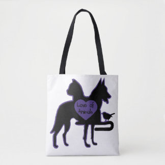 Tote Bag Love of Animals