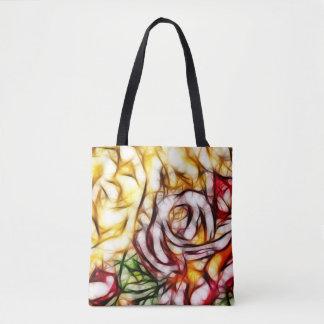 Tote Bag Lueur florale artistique de rose abstrait de