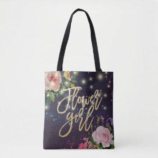 Tote Bag Lumières pourpres florales d'étincelle de