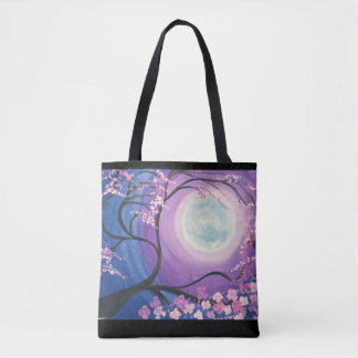 Tote Bag Lune Fourre-tout de fleurs de cerisier