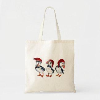 Tote Bag Macareux de Noël