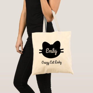 "Tote Bag ""Madame folle"" Fourre-tout de chat"