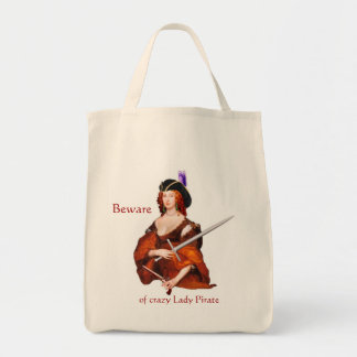 Tote Bag Madame Pirate Grocery Fourre-tout