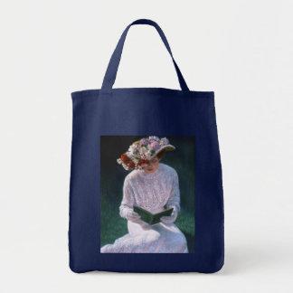 Tote Bag Madame victorienne Reading de beaux-arts élégants