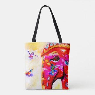 """Tote Bag """"Magie colibris dans toutes les tailles"""" et copie"""