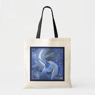 Tote Bag Magie lunaire de bleu de licorne de lune