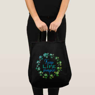 Tote Bag Maintenez la vie simple
