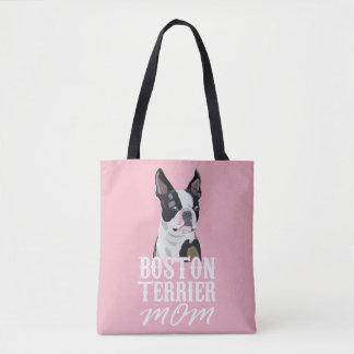 Tote Bag Maman de chien de Boston Terrier