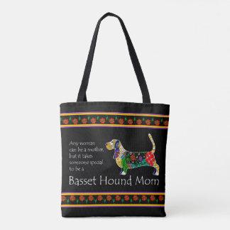 Tote Bag Maman Fourre-tout de basset