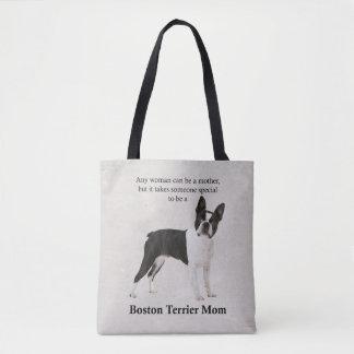 Tote Bag Maman Fourre-tout de Boston Terrier