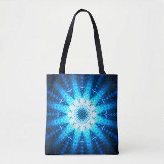 Tote Bag Mandala bleu lumineux