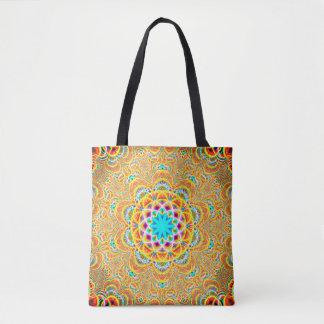 Tote Bag Mandala coloré de fractale