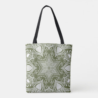 Tote Bag Mandala de mousse
