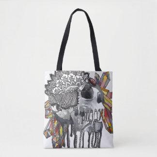 Tote Bag Mandala en cristal de crâne