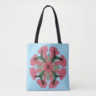 Tote Bag Mandala fourre-tout de colibri