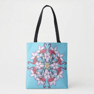 Tote Bag Mandala fourre-tout de flamant