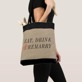 Tote Bag Mangez, buvez et remariez-vous la citation drôle