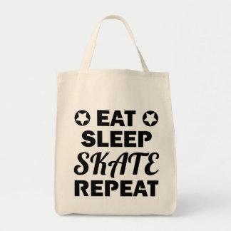 Tote Bag Mangez la répétition de patin de sommeil, rouleau