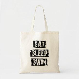 Tote Bag Mangez le bain de sommeil