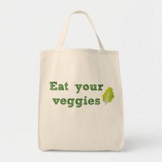Tote Bag Mangez votre épicerie Fourre-tout de légume