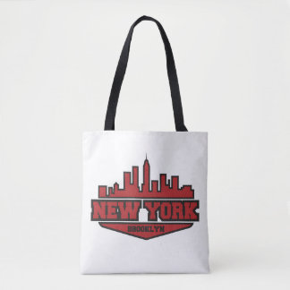 Tote Bag Manuscrit de style de bloc de Brooklyn New York |