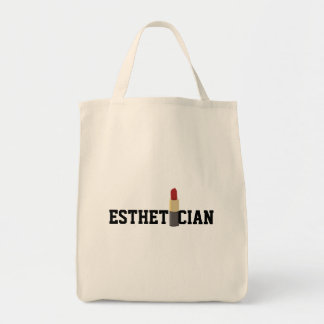 Tote Bag Maquilleur rouge de rouge à lèvres d'Esthetician