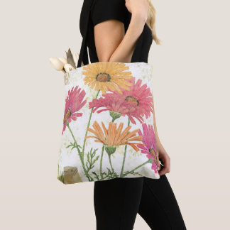 Tote Bag Marguerites décoratives