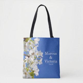 Tote Bag Mariage de fleurs de cerisier de ressort