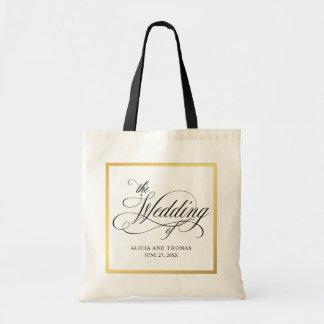 Tote Bag Mariage personnalisé par Flourishes élégants de