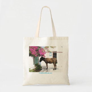 Tote Bag mascotte d'âne de GreekIslandHouse.com