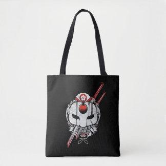 Tote Bag Masque du peloton | Katana de suicide et art de