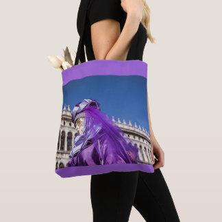 Tote Bag Masque violet de carnaval à Venise