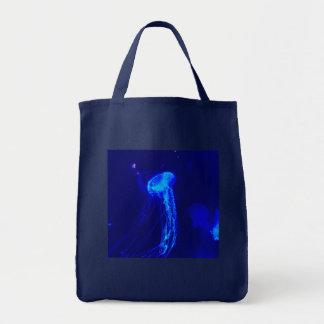 Tote Bag Méduses bleues électriques