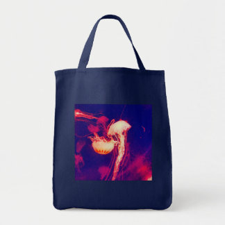 Tote Bag Méduses lumineuses (rouges)