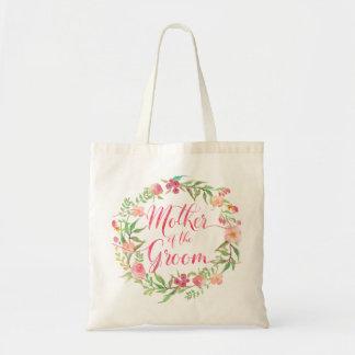 Tote Bag Mère de l'aquarelle Wreath5 floral de marié