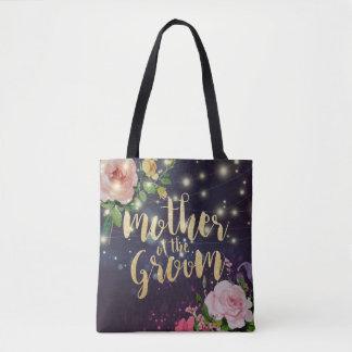Tote Bag Mère de mariage des lumières florales de ficelle